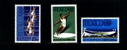 CYPRUS - 1968  OLYMPIC  GAMES  SET  MINT NH - Chypre (République)