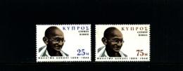 CYPRUS - 1970 MAHATMA GANDHI  SET  MINT NH - Chypre (République)