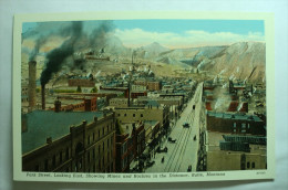 Butte, Montana - Park Street, Looking East, Showing Mines And Rockies In The Distance - Butte