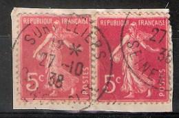 Semeuse Camée N° 278B - Oblitération Survilliers  Seine Et Oise , 27/10/1938 - Poststempel (Einzelmarken)