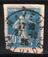 Semeuse Camée N° 192 - Oblitération :  Bayeux Calvados, 27/10/1925 - Poststempel (Einzelmarken)