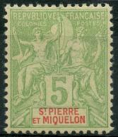 Saint Pierre Et Miquelon (1900) N 72 * (charniere) - St.Pierre Et Miquelon