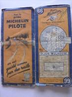 CARTE-ROUTIERE-MICHELIN-N °66-REV 1939-DIJON-MULHOUSE-B E - Cartes Routières