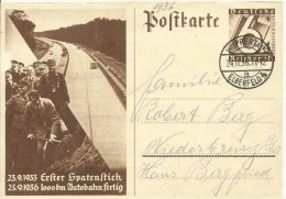 1936 Winterhilfswerk  Gelaufen Von Wuppertal Nach Niederbreisig  Autobahnen  Michel: 20 Euro - Germany