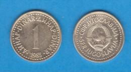 YUGOSLAVIA  1 DINAR  1.983  Niquel Laton  KM#86  MBC+/VF+   DL-10.989 - Yugoslavia