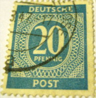 Germany 1946 Numeral 20pf - Used - Amerikaanse, Britse-en Russische Zone