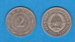 YUGOSLAVIA  2  DINARES  1.981  Cu Ni Zn  KM#57  MBC/VF   DL-10.991 - Yugoslavia