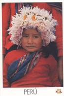 Lote PEP800, Peru, Postal, Postcard, Indigenous Issues, Cuzco, Niña Campesina, Children - Perú