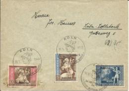 1942  Postkongress Mit Aufdruck   Satz Auf Brief Mit Sonderstempel Köln - Cartas