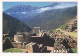 Lote PEP806, Peru, Postal, Postcard, indigenous issues, Pisaq, Residencia de Inca Yupanqui