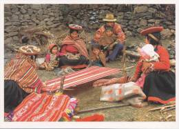 Lote PEP811, Peru, Postal, Postcard, Indigenous Issues, Calca, Cusco, Woman, Childres, - Perú