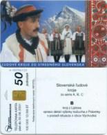 Telefonkarte Slowakei - Tradition,Trachten - Berglandschaft  -  Aufl. 100000 - 12/99 - Slowakei