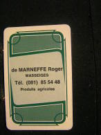 Playing Cards / Carte A Jouer / 1 Dos De Cartes,Inscription  Publicitaire/de Marneffe Roger Wasseiges,Produits Agricoles - Ohne Zuordnung