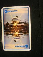Playing Cards / Carte A Jouer / 1 Dos De Cartes,Inscription  Publicitaire /  Aviation, Air Finnair (Finlande ) - Ohne Zuordnung