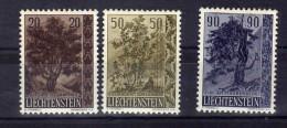 """Liechtenstein (1958)  - """"Flore. Arbres & Arbustes """" Neufs* - Liechtenstein"""
