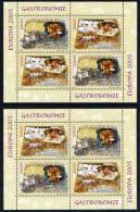 ROMANIA 2005 Europa: Gastronomy 2 Blocks  MNH / **. Michel Block 355 I And II - Blocks & Sheetlets
