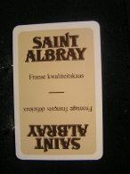 Playing Cards / Carte A Jouer / 1 Dos De Cartes,Inscription  Publicitaire / Saint Albray, Fromage Français Délicieux - Cartes à Jouer