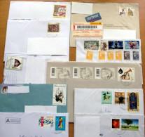 40 Stück Briefe Ganze Welt (4) - (12 Scans) Von 1944 Bis 2013, Mit Schönen MEF, Teilw.mit Inhalt - Briefmarken