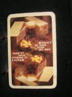 Playing Cards/Carte A Jouer/1 Dos De Cartes,Inscription  Publicitaire/Produits Laitiers,Stuyt,Le Fromage Pour La Bière - Cartes à Jouer