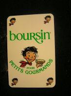 Playing Cards/Carte A Jouer/1 Dos De Cartes,Inscription  Publicitaire/Produits Laitiers,Boursin Pour Petits Gourmands - Cartes à Jouer