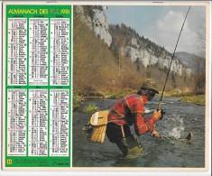 CALENDRIER - ALMANACH DES POSTES ET DES TELEGRAPHES - Pêcheurs - ANNEE 1981 - SEINE ET MARNE - Big : 1981-90