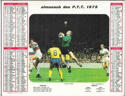 CALENDRIER - ALMANACH DES POSTES ET DES TELEGRAPHES - Rudby, Moto - ANNEE 1975  - SEINE ET MARNE - Calendriers