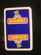 Playing Cards / Carte A Jouer / 1 Dos De Cartes,Inscription  Publicitaire / Biscuits Soubry .- - Cartes à Jouer