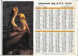 CALENDRIER - ALMANACH DES POSTES ET DES TELEGRAPHES -  ANNEE 1976  - SEINE ET MARNE - Calendars