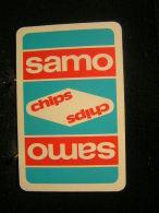 Playing Cards / Carte A Jouer / 1 Dos De Cartes,Inscription  Publicitaire / Chips Samos - Cartes à Jouer