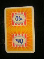 Playing Cards / Carte A Jouer / 1 Dos De Cartes,Inscription  Publicitaire / Creme Glace, Ola - Cartes à Jouer