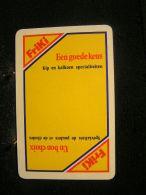 Playing Cards / Carte A Jouer/1Friki  Dos De Cartes,Inscription  Publicitaire / Friki Spécialités De Poulet Et De Dindes - Cartes à Jouer