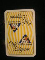 Playing Cards / Carte A Jouer / 1 Dos De Cartes,Inscription  Publicitaire / Café, Café De Colombia - Liègeois - Cartes à Jouer