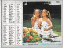 CALENDRIER - ALMANACH DES POSTES ET DES TELEGRAPHES -  ANNEE 1986  - SEINE ET MARNE - Calendriers