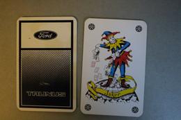 Playing Cards / Carte A Jouer / 1 Dos De Cartes,Inscription  Publicitaire /  Automobile - Ford Taunus, Genk Belgique - Cartes à Jouer