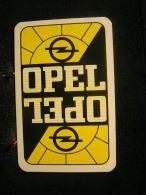 Playing Cards / Carte A Jouer / 1 Dos De Cartes,Inscription  Publicitaire /  Automobile - Voiture Opel - Cartes à Jouer