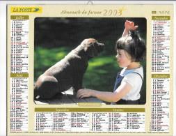 CALENDRIER - ALMANACH DES POSTES ET DES TELEGRAPHES -  Chiens - ANNEE 2003  - SEINE ET MARNE - Formato Grande : 2001-...