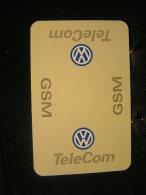 Playing Cards / Carte A Jouer / 1 Dos De Cartes,Inscription  Publicitaire /  Automobile - Voiture  VW - Wolskwagen - Cartes à Jouer