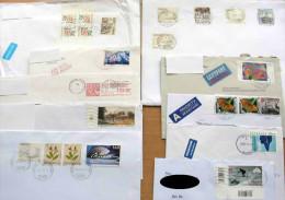 40 Stück Briefe Ganze Welt (5) - (12 Scans) Von 1938 Bis 2013, Mit Schönen MEF, Teilw.mit Inhalt - Briefmarken