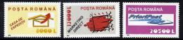 ROMANIA 2002 Postal Services II  MNH / **.  Michel 5688-90 - Unused Stamps