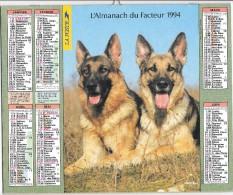 CALENDRIER - ALMANACH DES POSTES ET DES TELEGRAPHES - ANNEE 1994 - Chiens  - SEINE ET MARNE - Big : 1991-00