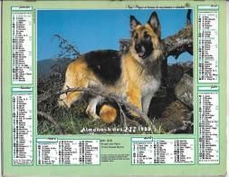 CALENDRIER - ALMANACH DES POSTES ET DES TELEGRAPHES - ANNEE 1988 - Chiens  - REGION PARISENNE - Big : 1991-00