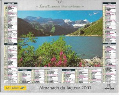 CALENDRIER - ALMANACH DES POSTES ET DES TELEGRAPHES - ANNEE 2001 - Paysages  - REGION PARISENNE - Calendriers