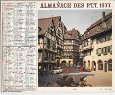 CALENDRIER - ALMANACH DES POSTES ET DES TELEGRAPHES - ANNEE 1977 - Colmar, Chartres  - PARIS Et Sa Banlieu - Calendriers