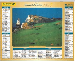 CALENDRIER - ALMANACH DES POSTES ET DES TELEGRAPHES - ANNEE 2003 - SEINE ET MARNE - Formato Grande : 2001-...