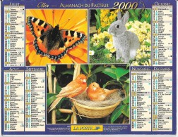 CALENDRIER - ALMANACH DES POSTES ET DES TELEGRAPHES - ANNEE 2000 - SEINE ET MARNE - Big : 1991-00