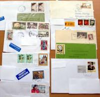40 Stück Briefe Ganze Welt (2) - (12 Scans) Von 1964 Bis 2013, Mit Schönen MEF, Teilw.mit Inhalt - Briefmarken