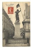 Cp, 60, Compiègne, Statue De Jeanne D'Arc, Voyagée 1914 - Compiegne