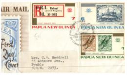 (210) Papua New Guinea To Australia Registered FDC Cover - Papua New Guinea
