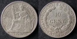 INDOCHINE  10 Cent 1937  INDOCINA  INDOCHINA  PORT OFFERT - Laos