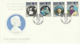 Solomon Islands 1985 Queen Mother 85th Birthday FDC - Solomon Islands (1978-...)